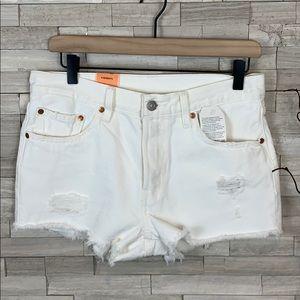 Levi's Shorts - Levi's 501 White Cut Off Distressed Shorts NWT 27